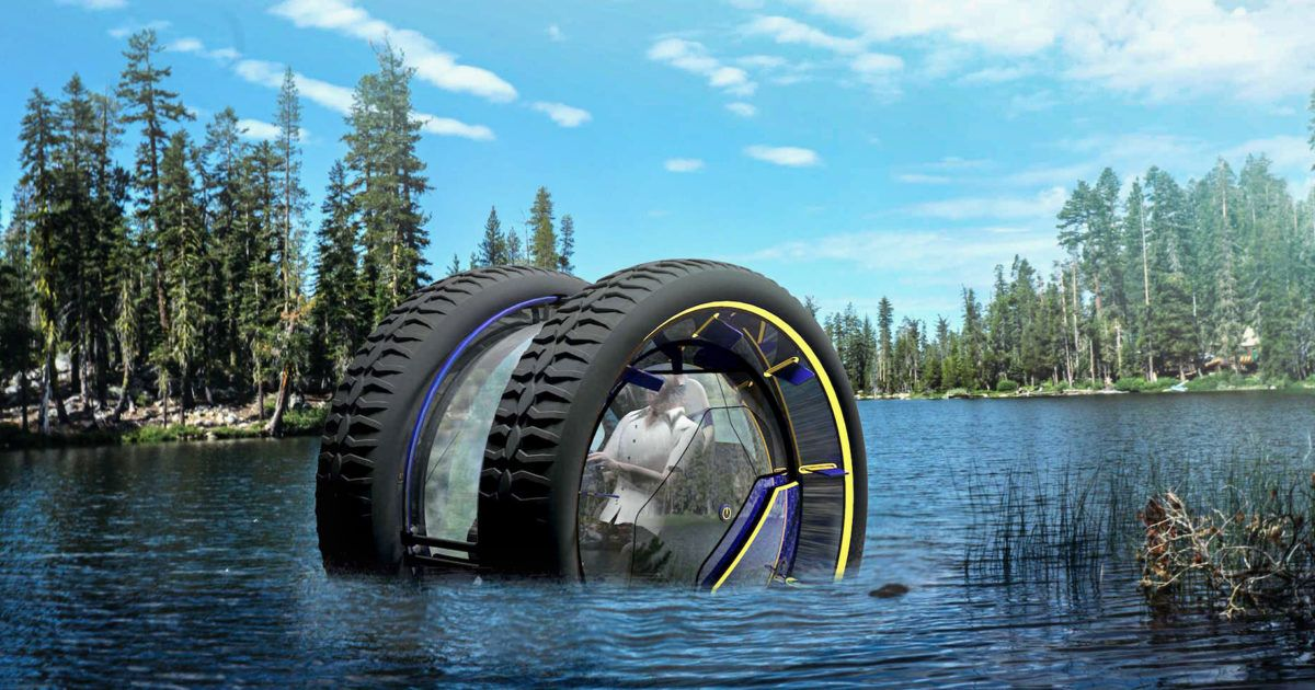 You Could Roll on Land or the Seafloor in This Fanciful Concept Car ...
