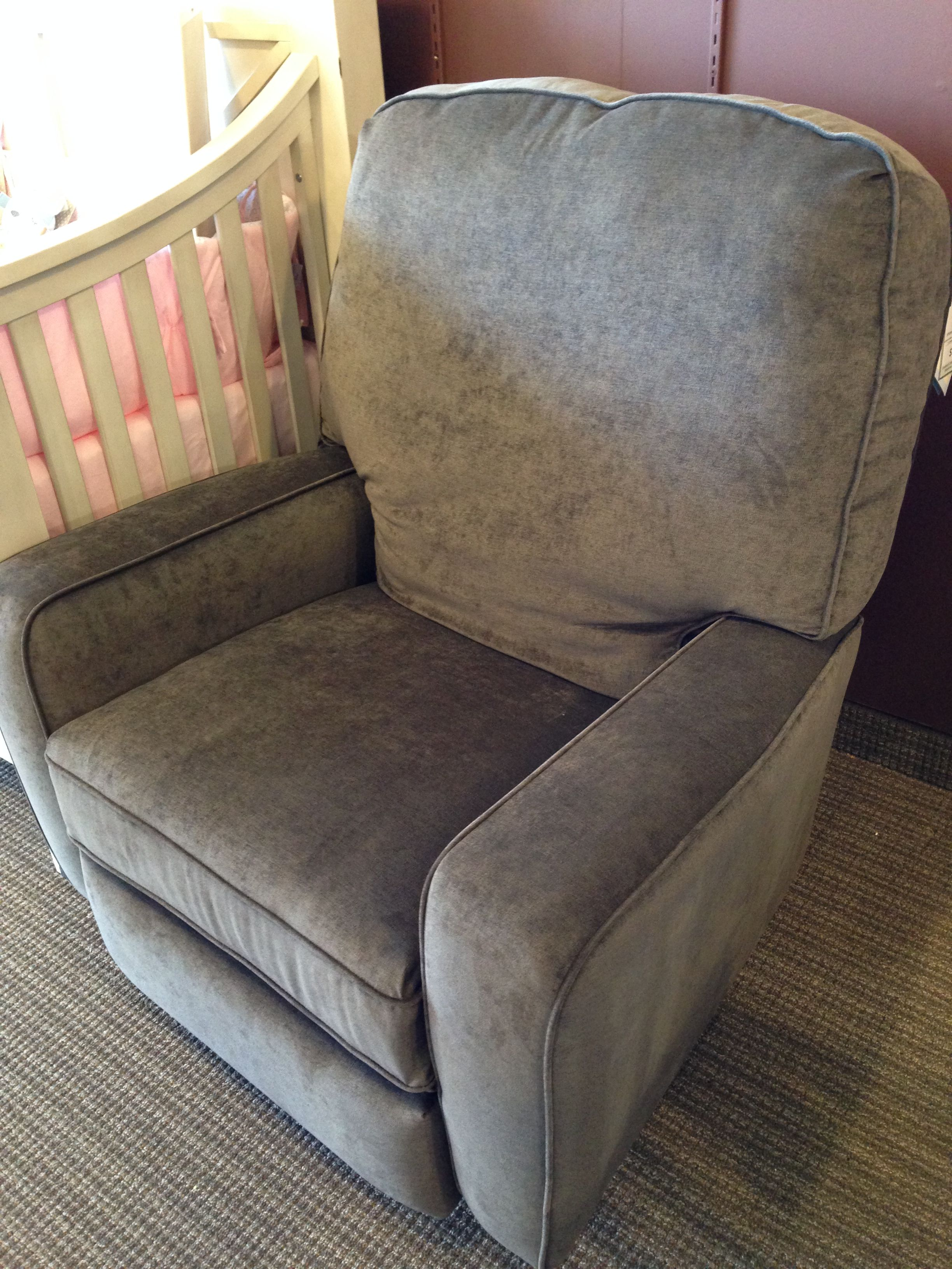 Best Chairs Bilana Swivel Glider Recliner In Ash Stock 247237