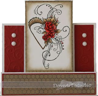 Just4FunCrafts and DoveArt Studios: Coloring with Reds - Valentines Day Card Class