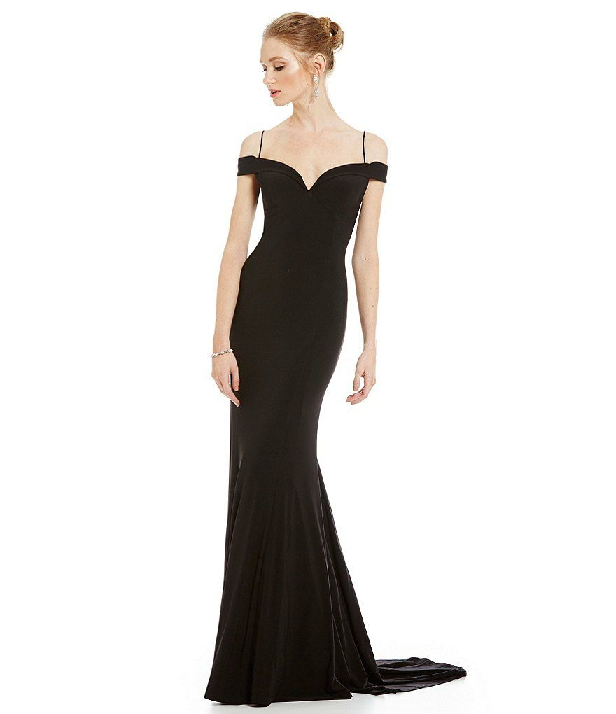 Shop for Adrianna Papell Cold Shoulder Mermaid Gown at Dillards