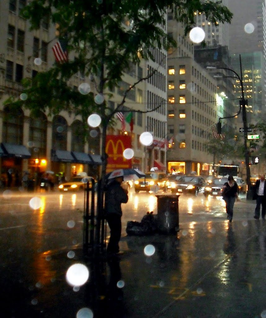 Rainy Night In New York City By Mook I Could Have Sworn This - Photographer captures the amazing reflections of puddles in new yorks streets