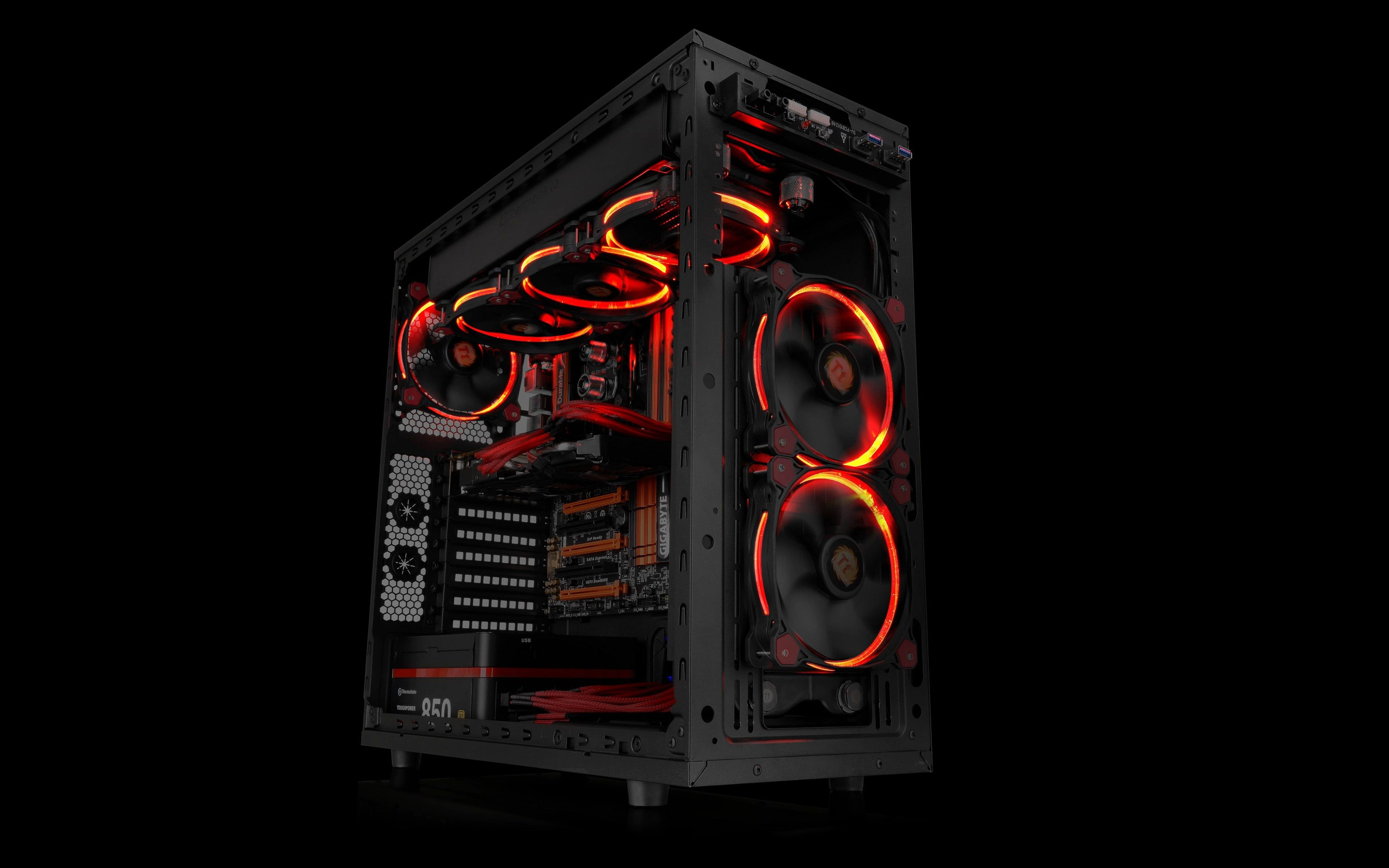 Black Computer Tower Pc Gaming Computer Pc Cases Technology Gigabyte Hardware Simple Background 4k Wallpaper Hdwallpap In 2020 Pc Cases Computer Tower Gaming Pc