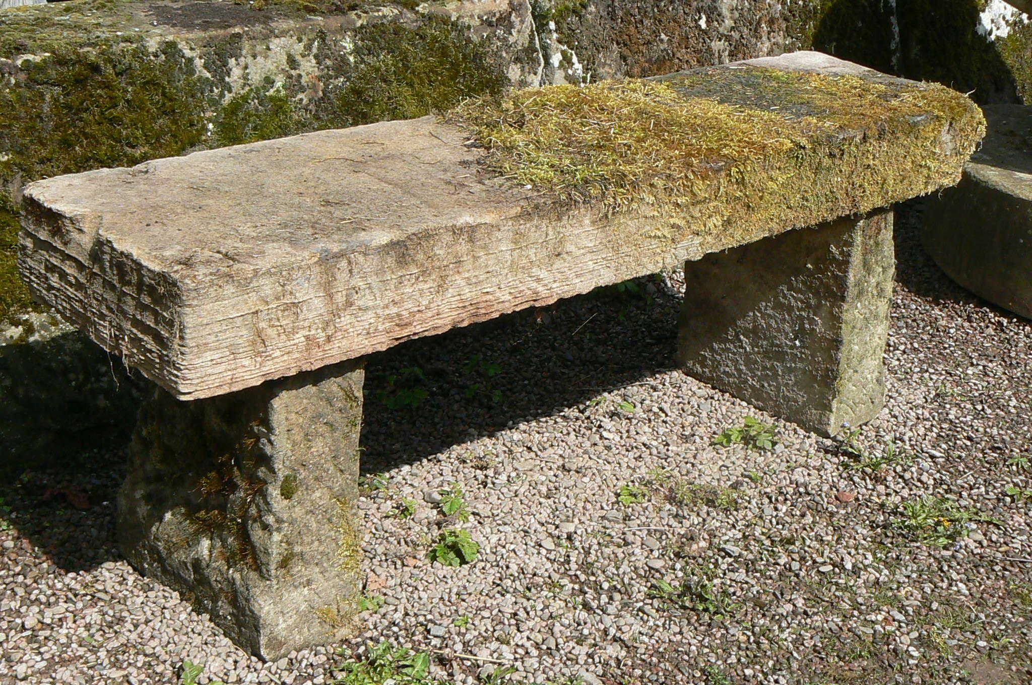 GARDEN BENCHES | ... Garden Antiques   Benches And Garden Furniture   Old  Stone