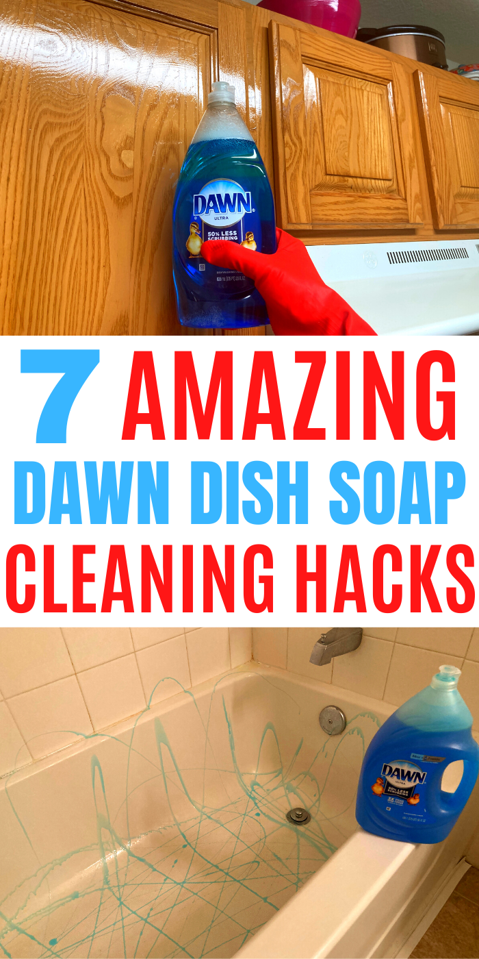 7 AMAZING DAWN DISH SOAP CLEANING HACKS THAT WILL