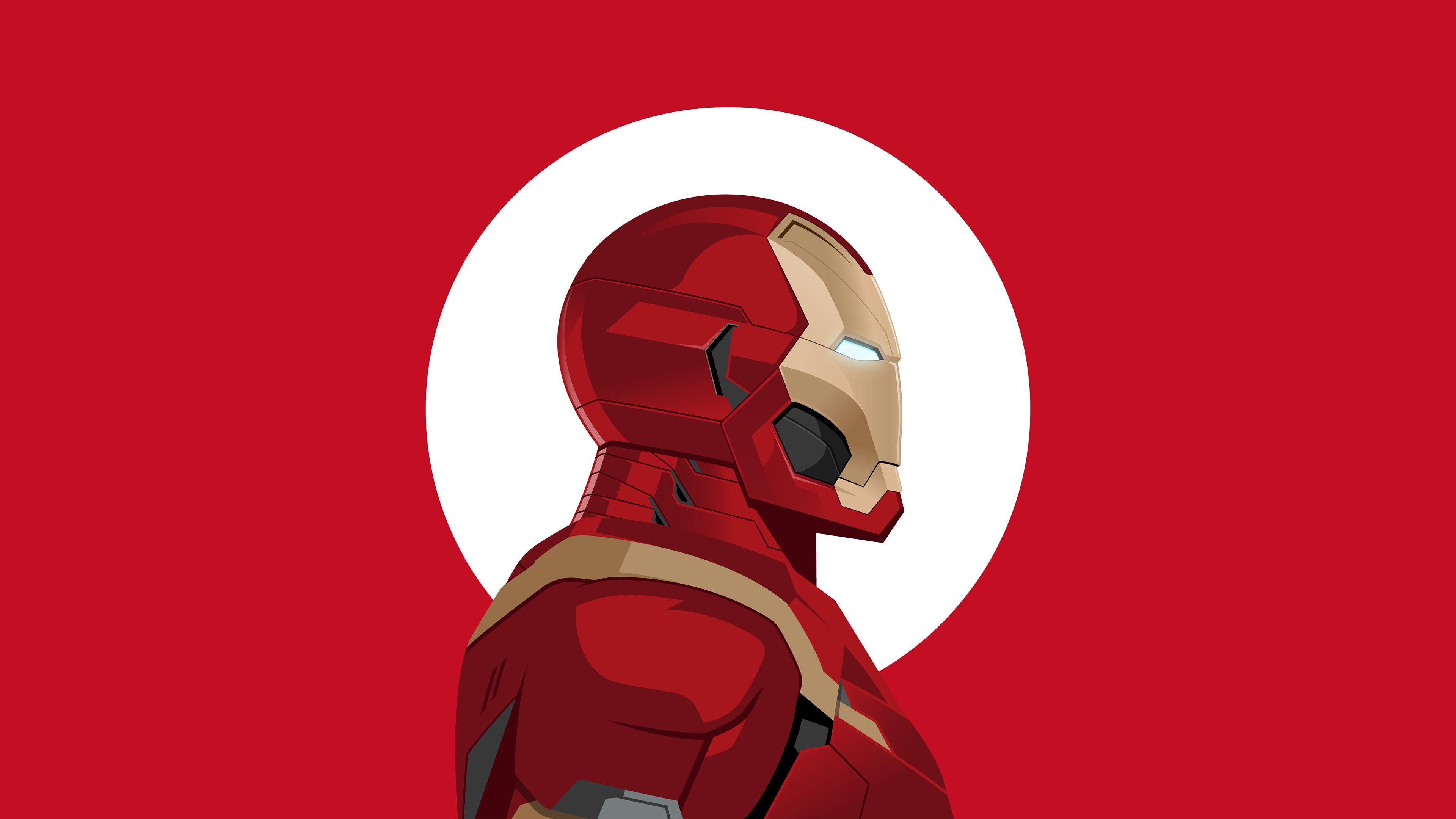 Wallpaper 4k Iron Man Minimal 4k 4k-wallpapers, artist ...