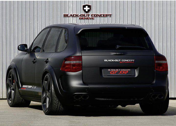 Porsche Cayenne Turbo Blackout Flat Black Would Be So
