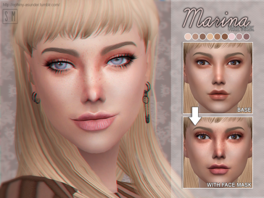 EPHINY ASUNDER The sims 4 skin, Sims 4, Sims