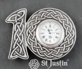 Wedding Anniversary Clock Tin Gifts Jewelry And Perfect For 10 Year