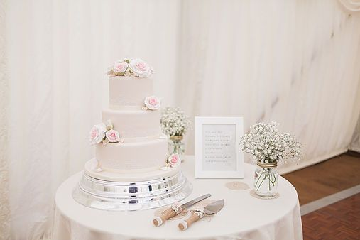 Cake Table Decoration Idea With Frame Flowers And Wedding Cake Knife Very Pretty Bab Wedding Cake Table Decorations Wedding Cake Table Cake Table Decorations