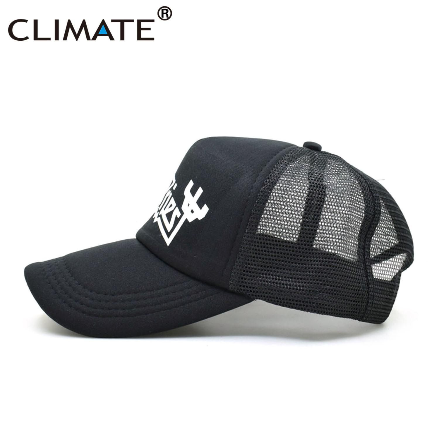 67c6d91979553 CLIMATE Men Women Trucker Caps Priest Cap Men Fans Hot Summer Black ...