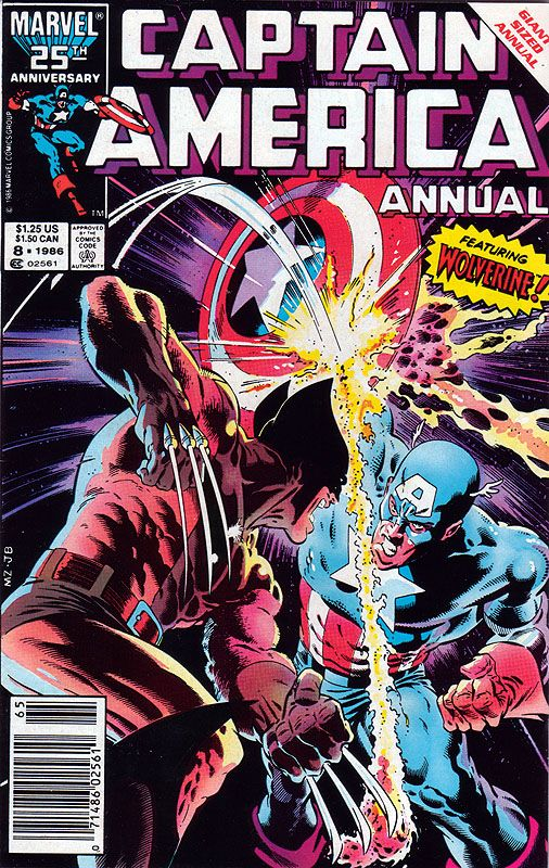 Captain America Annual 8 - Mike Zeck - Wolverine crossover