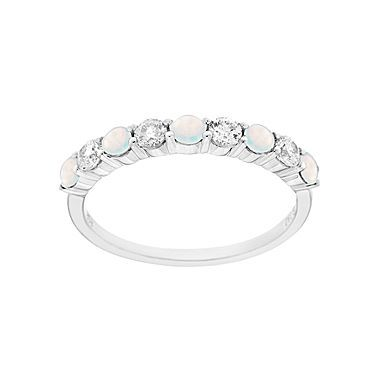 Awesome Lab Created Opal u White Sapphire Band jcpenney i really want this