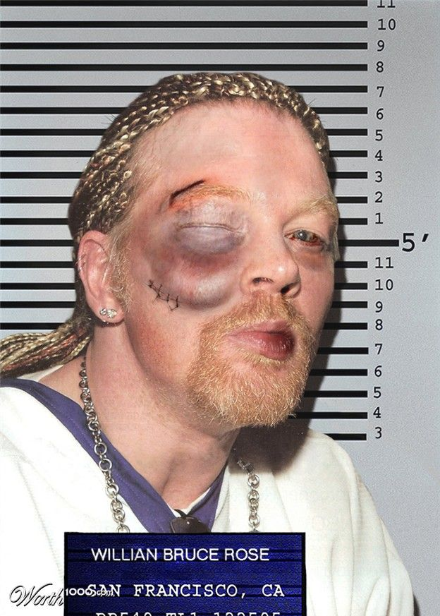 Celebrity Mugshots 3 - Worth1000 Contests.   Axel Rose returns