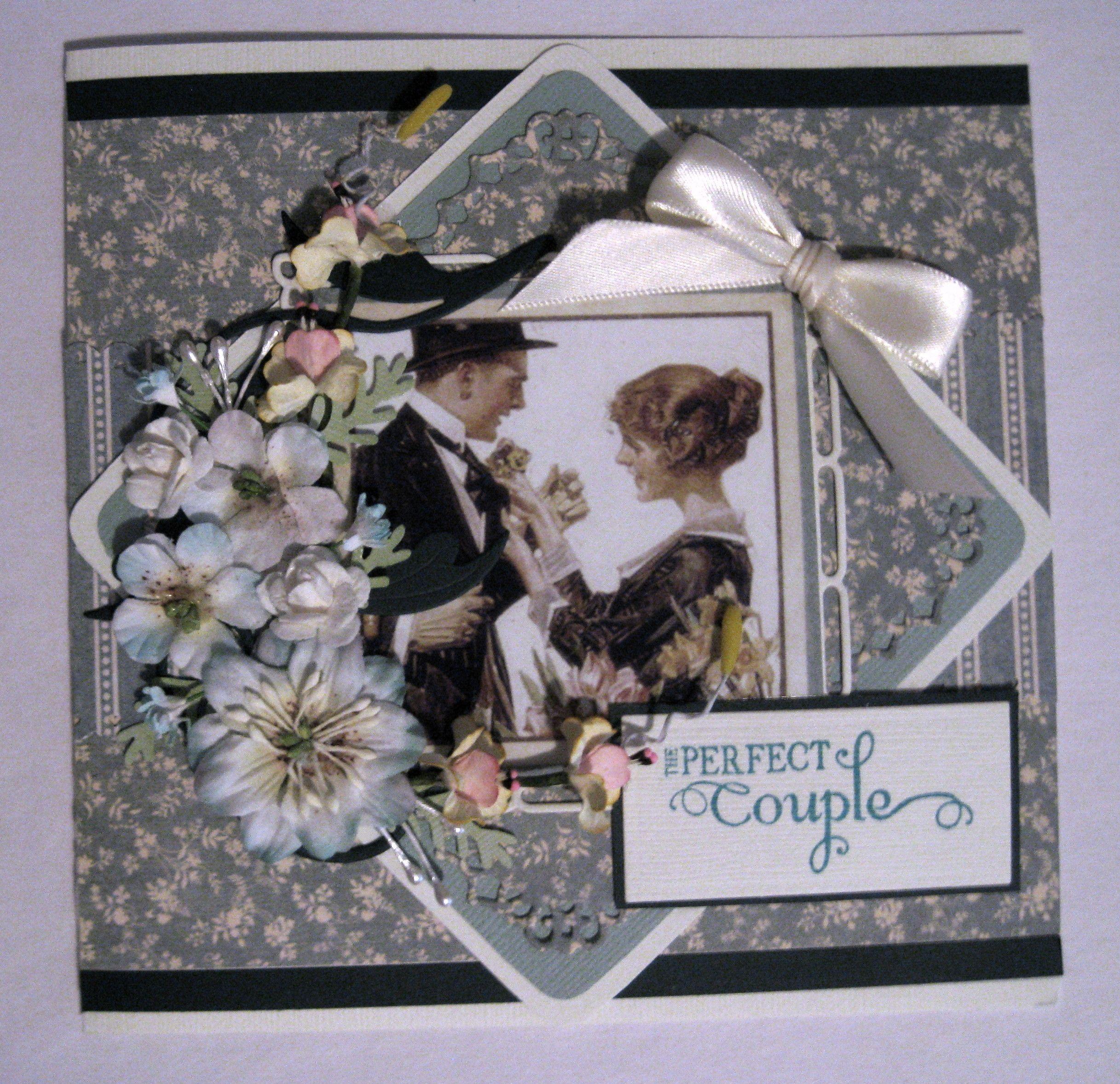 Scrapbook ideas engagement - Graphic 45 Wedding Or Engagement Card Scrapbook Com