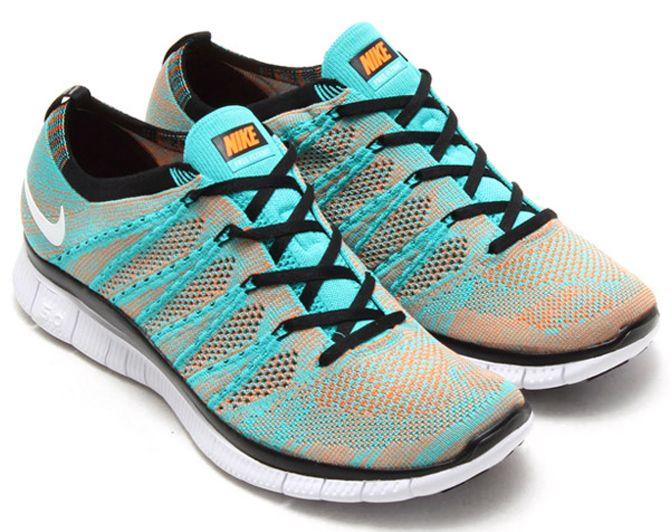 654a1907d0d5 ... Shoes   Bags for Women. Nike Free Flyknit NSW Hyper Jade Hot Lava