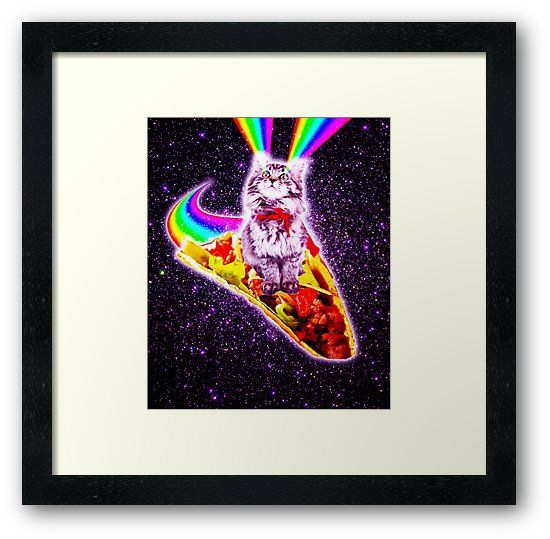 Pick up this funny hipster design with an outer space kitty cat surfing on taco this cosmic kitten makes a perfect gift so pick one up for you a