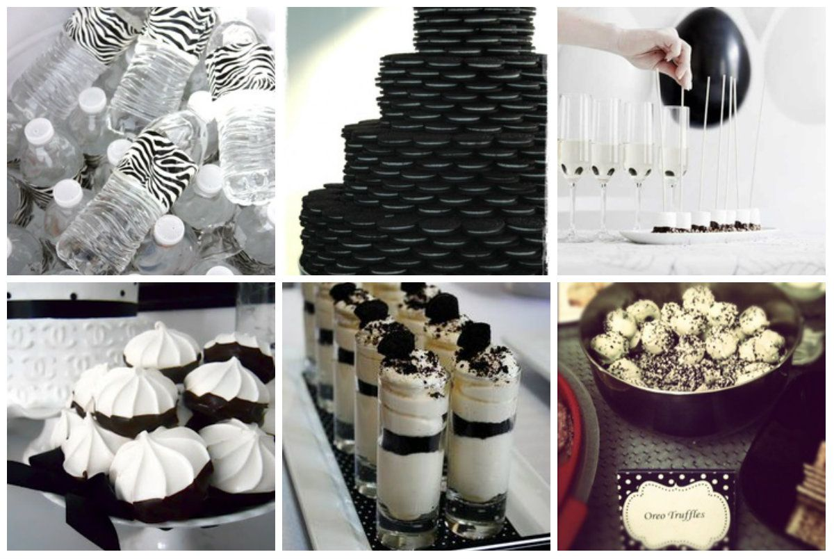 Food For A Black And White Themed Party Party Black And