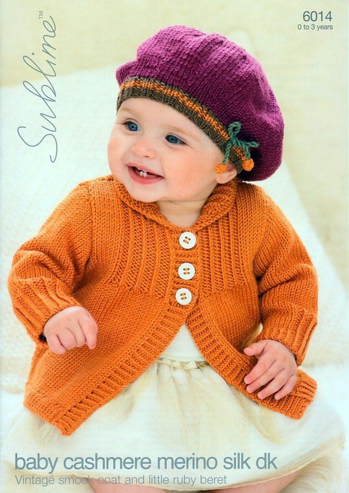 Vintage Smock Coat And Little Ruby Beret In Sublime Baby Cashmere
