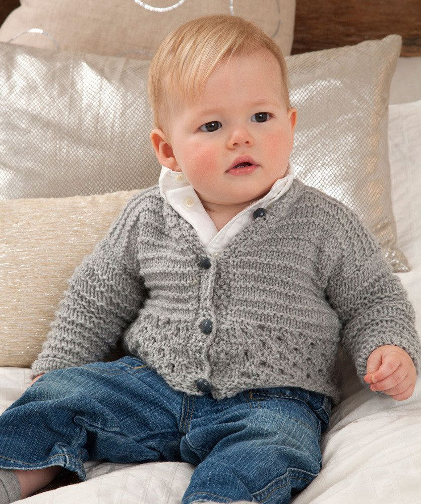 125f4f3e0 Sweet and Cuddly Baby Cardigan in Red Heart Detroit - download the ...