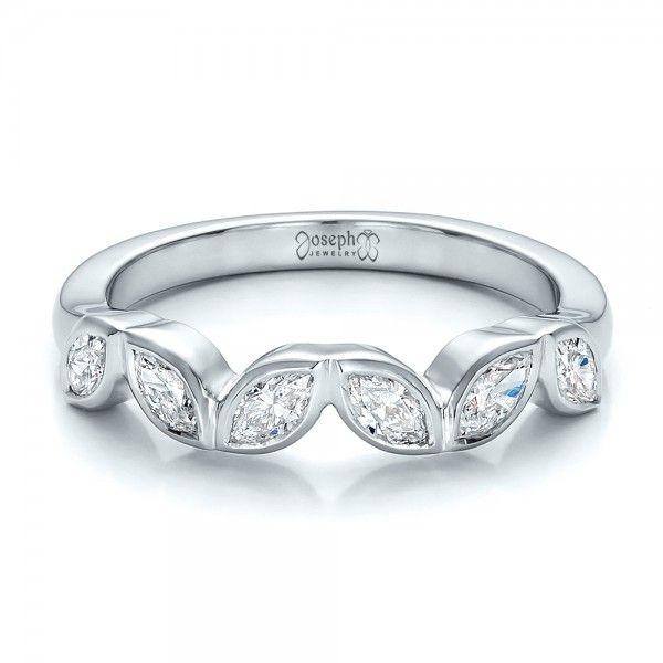 Marquise Ring Bands: Custom Marquise Diamond Wedding Band