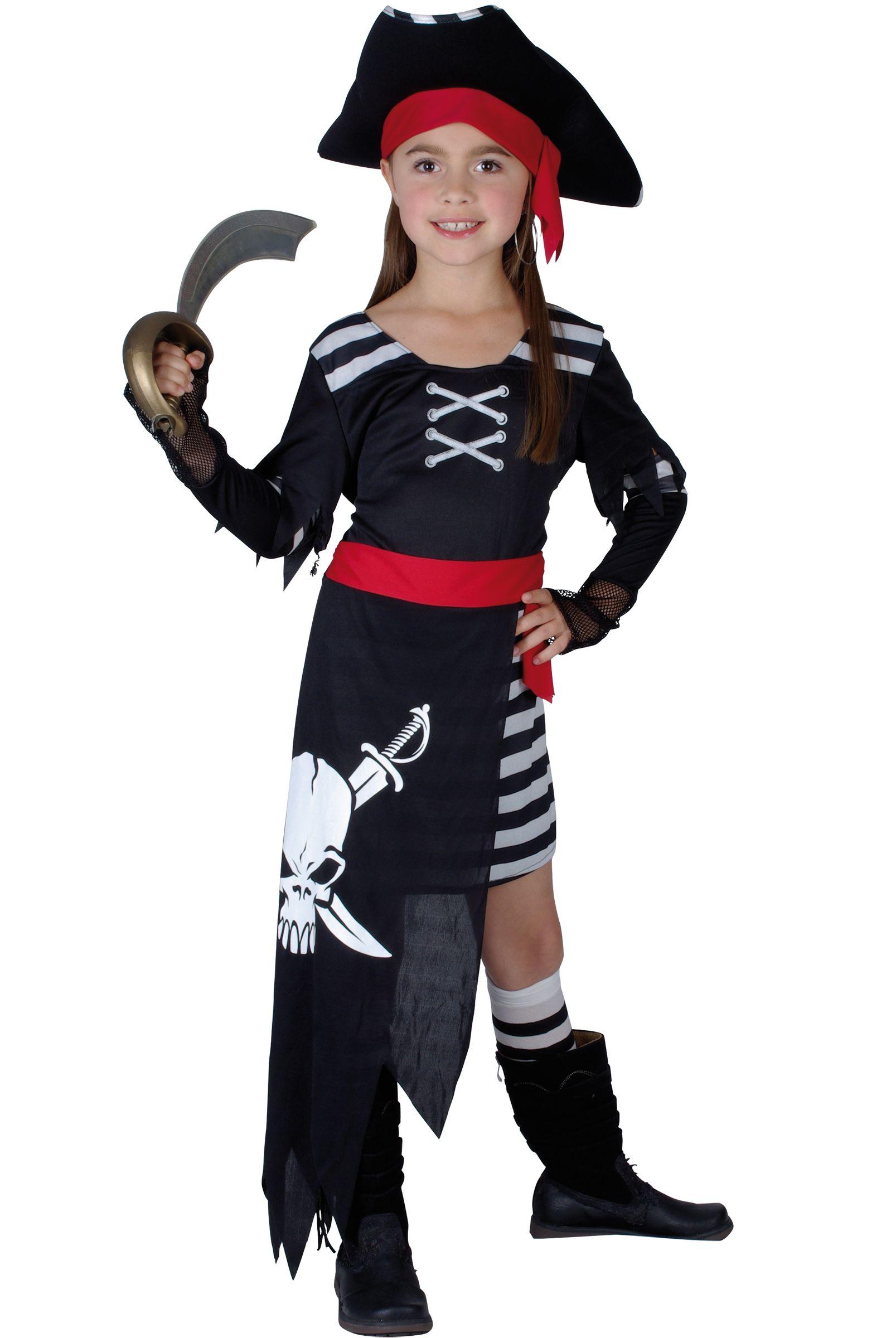 de4880c5f6e9 Costume pirata con gonna lunga per bambina: Costumi bambini,e vestiti di carnevale  online - Vegaoo