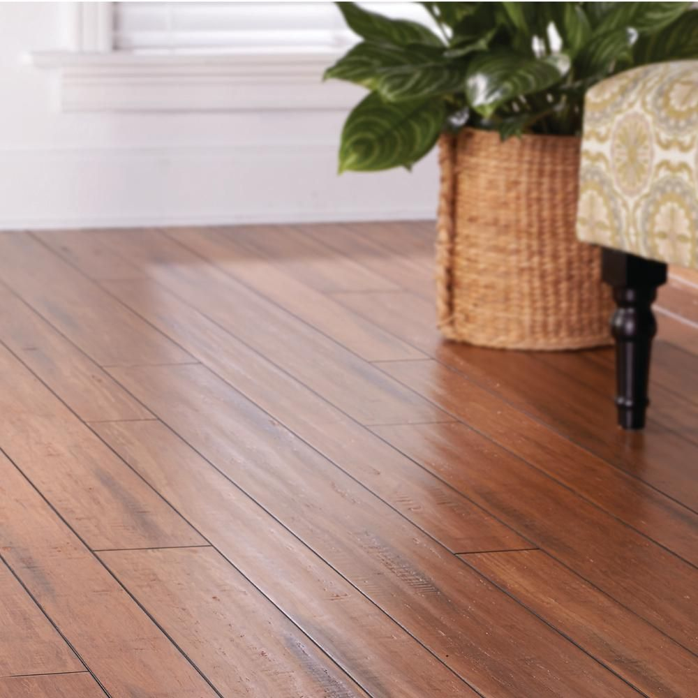 Home Decorators Collection Strand Woven Distressed Dark Honey 1 2 In T X Multi Width X 72 In L Solid Bamboo Flooring Hd13004b The Home Depot Bamboo Flooring Hardwood Floors Flooring