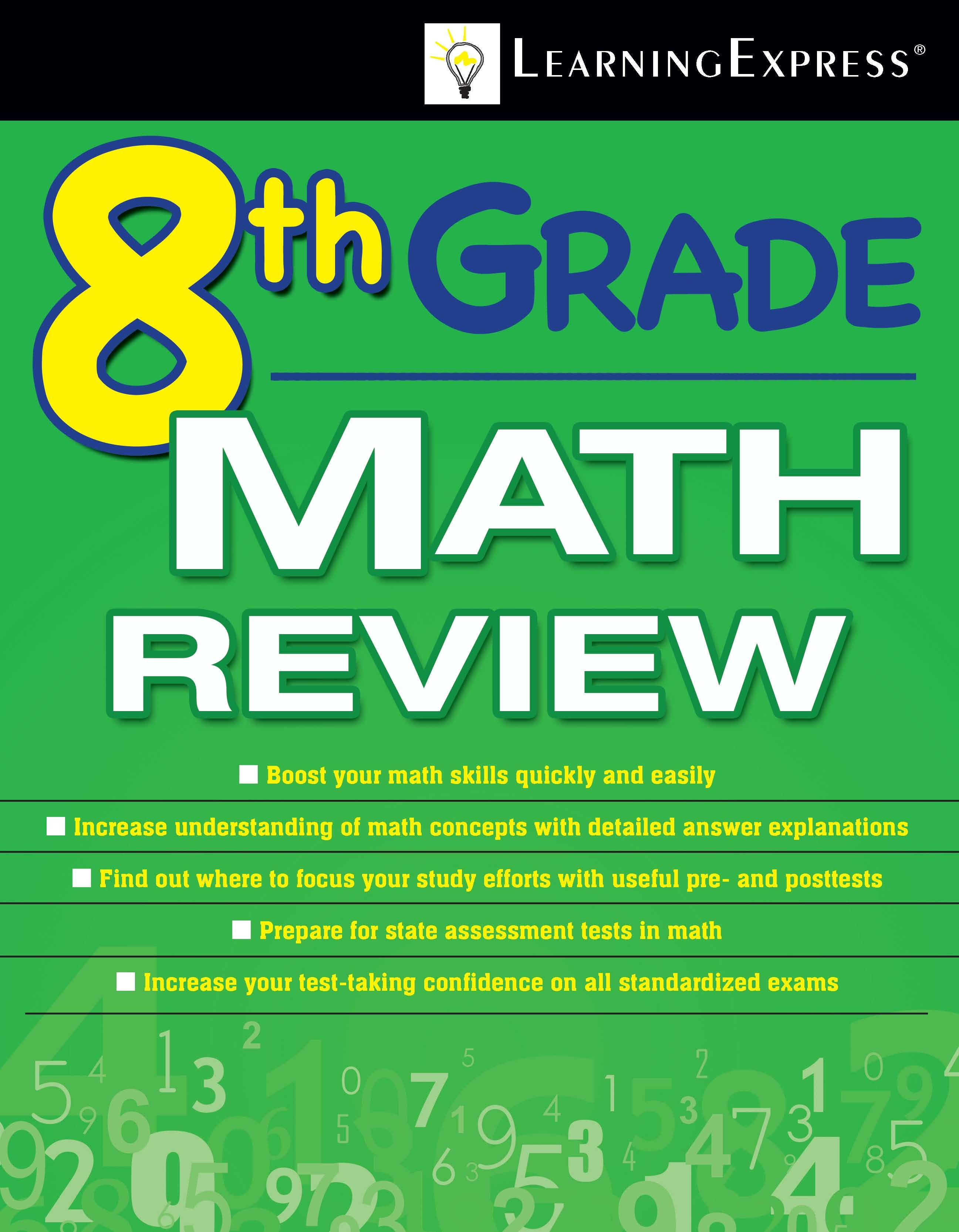 8th Grade Math Review Helps Students Excel On The Math Sections Of The 8th Grade Learning