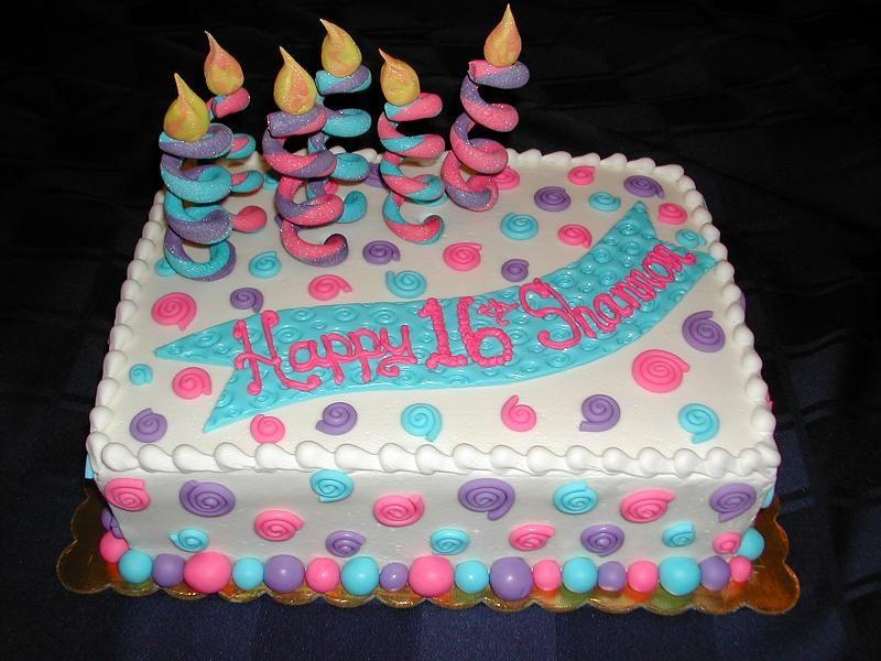 easy girl birthday cake ideas | Whimsical Sixteenth ...