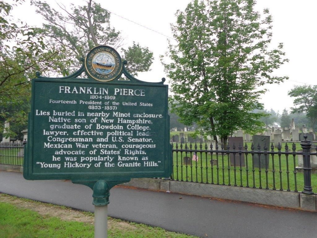 President Franklin Pierce Grave Historical Marker In Concord Nh New Hampshire Mexican War Concord