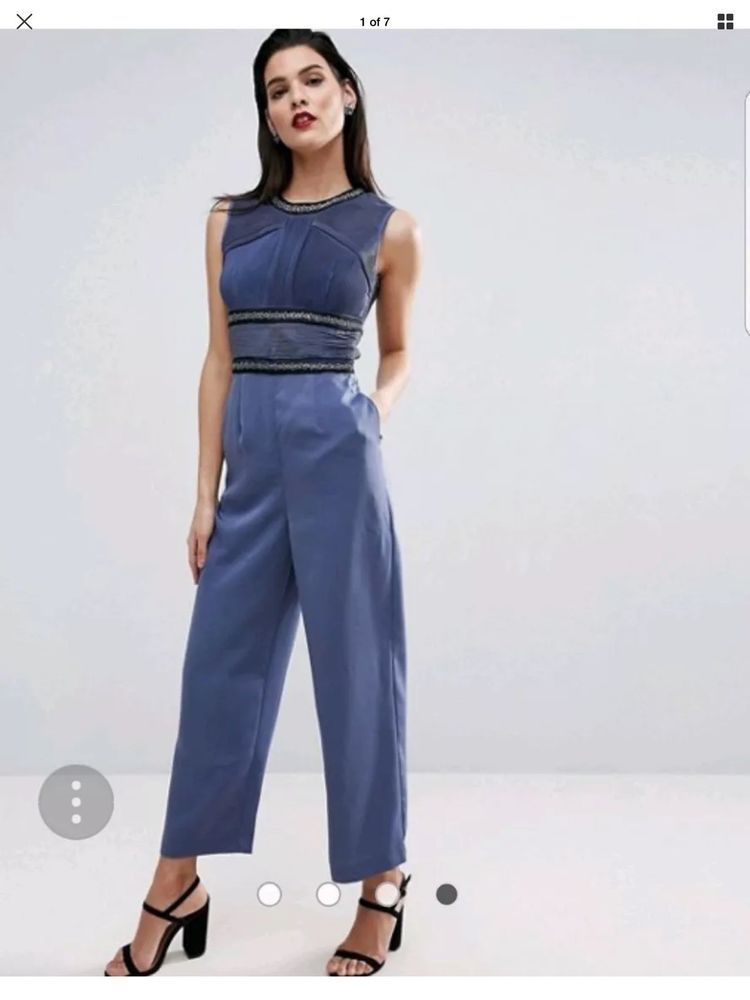 a1df60bd6e2 ASOS 6 Embellished Satin Navy Jumpsuit With Open Back Wedding  fashion   clothing  shoes  accessories  womensclothing  jumpsuitsrompers (ebay link)