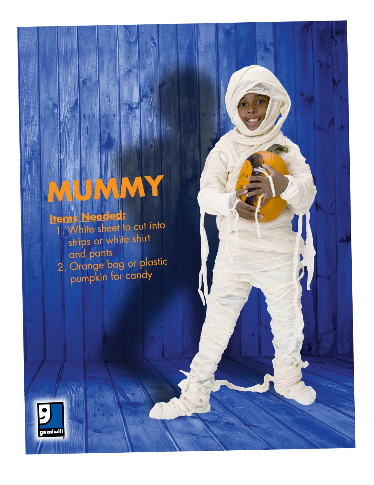 Are you ready for Halloween? A mummy is an easy DIY
