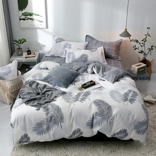 Photo of Tropical Plant Kid Bed Cover Set Duvet Pillowcases Comforter Bedding Set 2TJ-61006