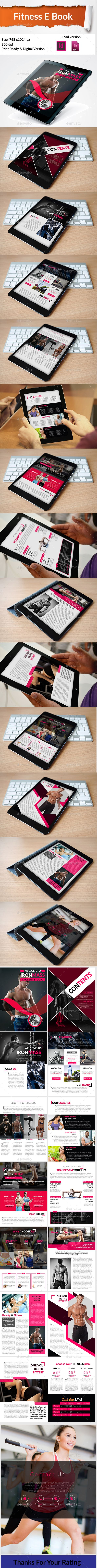 Fitness E-Book Template InDesign INDD - 14 Pages
