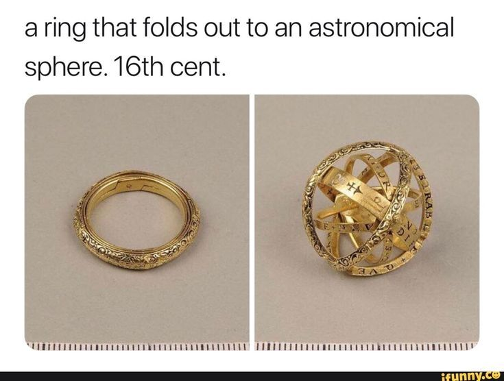 Photo of A ring that folds out into an astronomical sphere. …