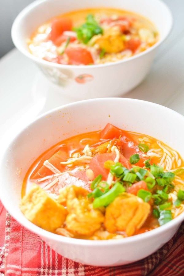 Vietnamese Vegetarian Vermicelli Soup Bun Rieu Chay