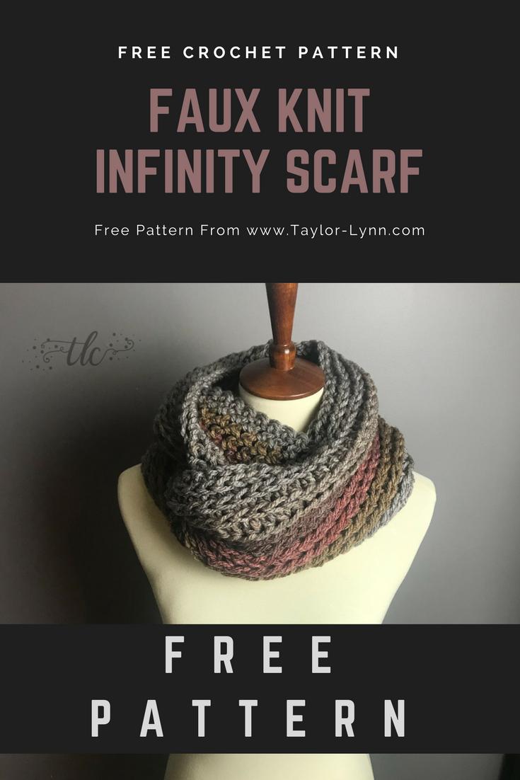 Hdc Half Double Crochet Knit Knit Stitch Infinity Infin Crochet Infinity Scarf Pattern Crochet Infinity Scarf Free Pattern Infinity Scarf Knitting Pattern