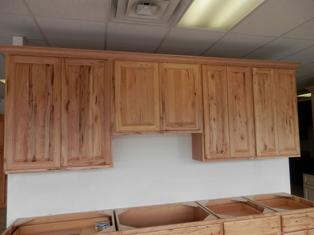 Amish Custom Made Hickory Kitchen Cabinets Rustic American Made New