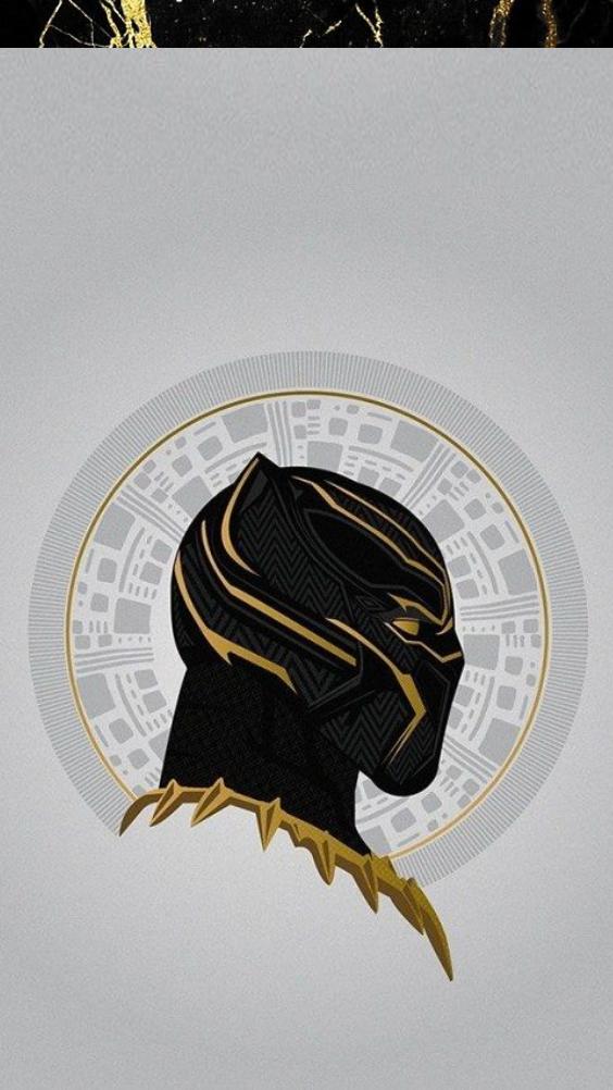 Blackpanther Wallpaper Iphone Lockscreen Homescreen Gold Black Aesthetic Graphicdesign Marvel Hintergrundbilder