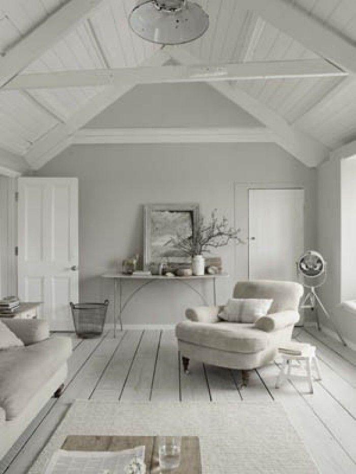 leuke woon ideeën en sferen - mooi en fris wit met licht grijs, Deco ideeën