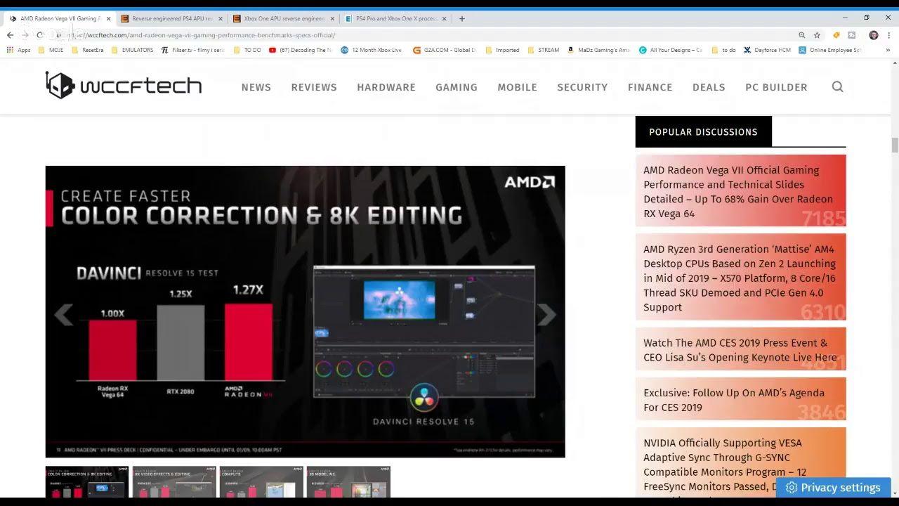 PlayStation 5 GPU Specs - 12TFlops On 330 mm2 Die AMD NAVI