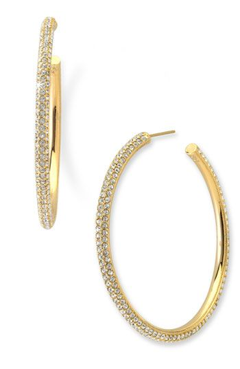 Nadri Large Pavé Crystal Hoop Earrings Available At Nordstrom