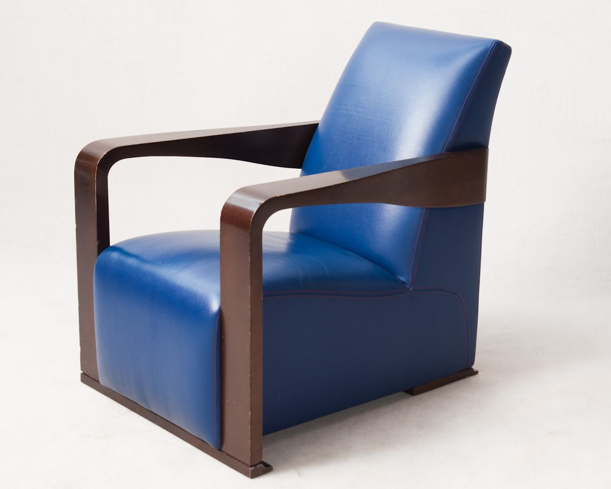 chafik gasmi chair model ying for hugues chevalier blue leather upholstery draft to the. Black Bedroom Furniture Sets. Home Design Ideas