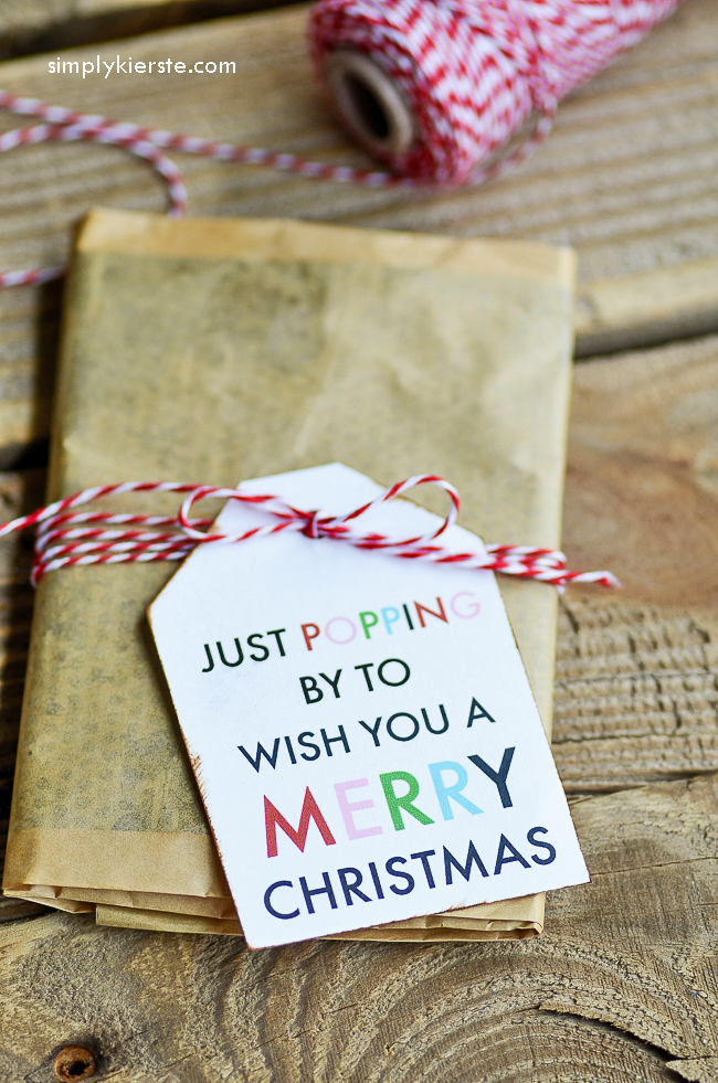 Just popping by to wish you a Merry Christmas! (Popcorn gift idea