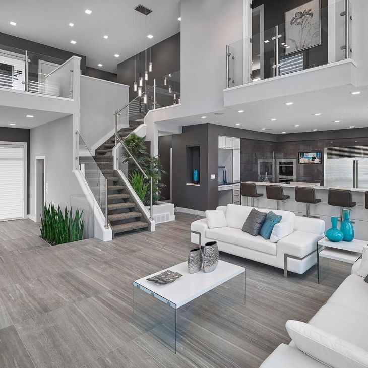 Gray Living Room Stairs Design House Design New Interior Design | Staircase Inside Living Room | Kitchen Stair | Apartment | Inside Lounge | Staircase Tv | Private Home