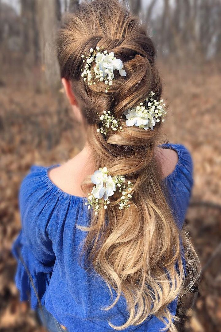 Beautiful Half up half down wedding hair