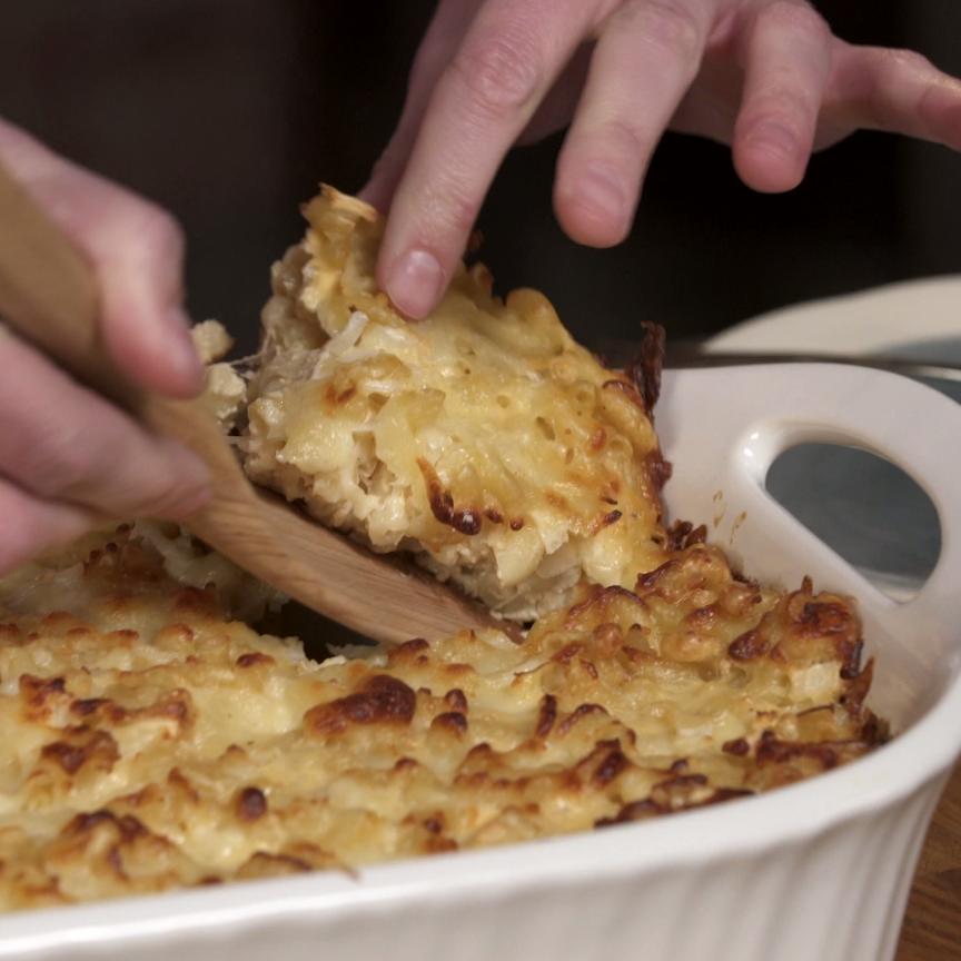 how to make baked macaroni pie