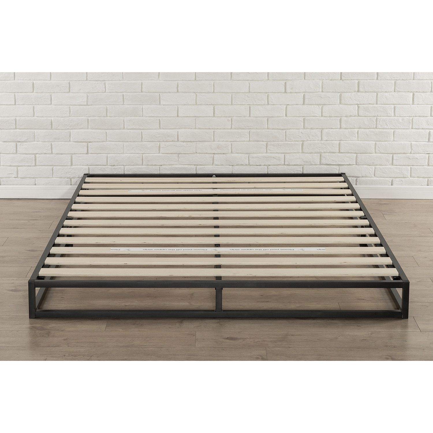 Priage 6 Inch Full Size Metal Platform Bed Frame Black