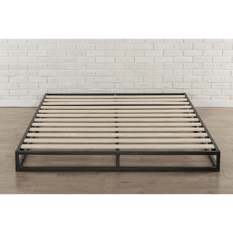 Priage 6 Inch Full Size Metal Platform Bed Frame Black