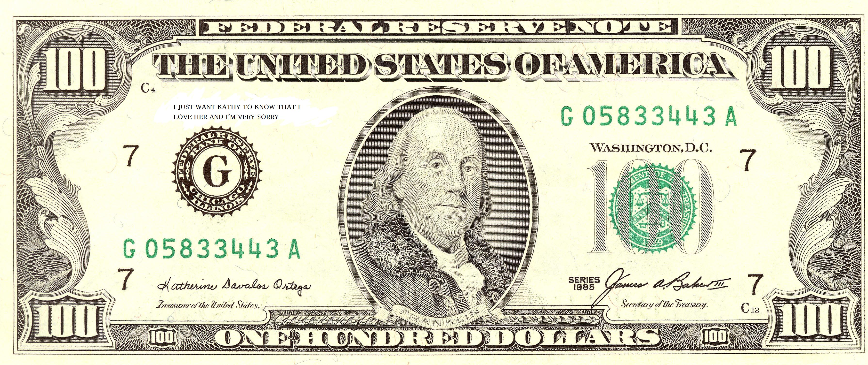 Clipart 100 Dollar Bill Dollar Bill 100 Dollar Bill Dollar