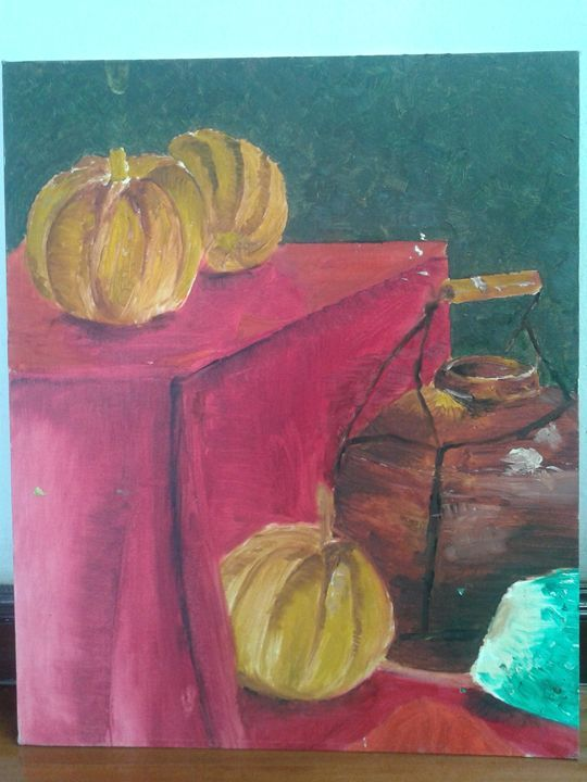 Pumpkins - Infinity Creative Studio - Paintings & Prints Still Life Other Still Life… | ArtPal thumbnail